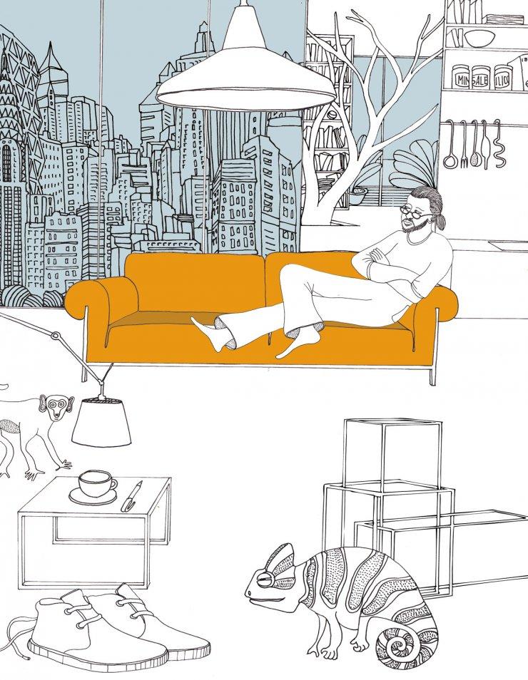 Anna Sutor - Ron Gilad on his sofa