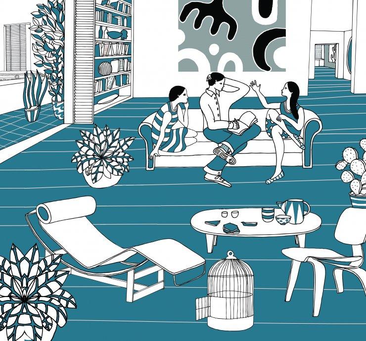 Anna Sutor - A sofa for three